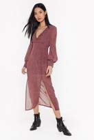 Thumbnail for your product : Nasty Gal Womens red floral vnceck ruched split midi dress - 12