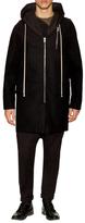 Rick Owens Wool Solid Hooded Coat