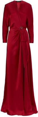 Jenny Packham Robe Tie Front Beaded Gown