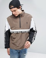 Asos Over Head Track Jacket With Color Block