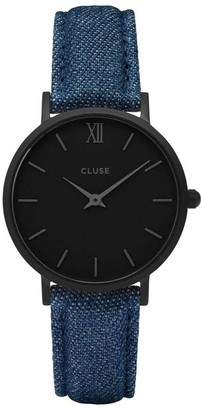 Cluse Womens Analogue Classic Quartz Watch with Leather Strap CL30031