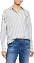 Frame Tie Up Striped Button-Down Shirt