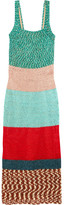Missoni Color-block Crochet-knit Maxi Dress - Green