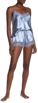Jonquil In Bloom by Lace Trim Satin 2-Piece Pajama Set