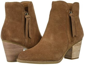 Frye And Co. AND CO. Allister Zip Bootie (Cognac Suede) Women's Boots