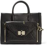 Diane von Furstenberg Secret Agent Large Convertible Leather Tote - Black