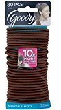 Goody Ouchless Elastics, Brown, 30 Count