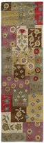 Kaleen Khazana Patchwork Rug In Ivory - 2 Foot 3 Inch X7 Foot 6 Inch
