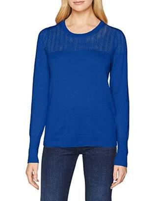 Noa Noa Women's 1-7914-4 Regular Fit Round Collar Long Sleeve Jumper - Blue - Small