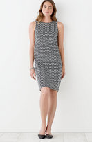 J. Jill Printed Shirred-Back Tank Dress