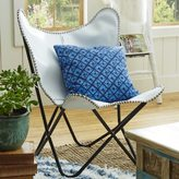Horizon White Leather Butterfly Chair