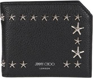 Jimmy Choo Black Leather Albany Wallet