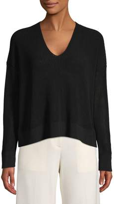 Eileen Fisher Cotton-Blend Cropped Sweater