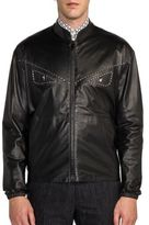 Fendi Staple Stitch Monster Leather Jacket