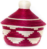 """All Across Africa 5"""" Cathedral Basket - Fire Red/White"""