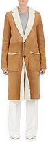 TOMORROWLAND Women's Shearling Button-Front Coat-TAN