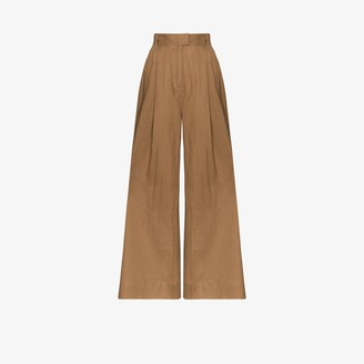Three Graces Molly wide leg linen trousers