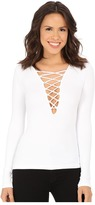 Free People Lace-Up Layering Tee