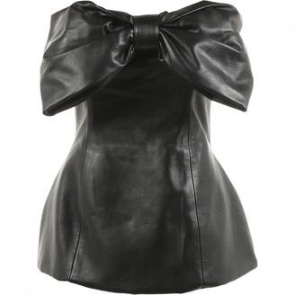 Pierre Balmain Black Leather Top for Women