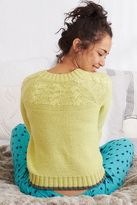 aerie Pop Color Cable Knit Sweater
