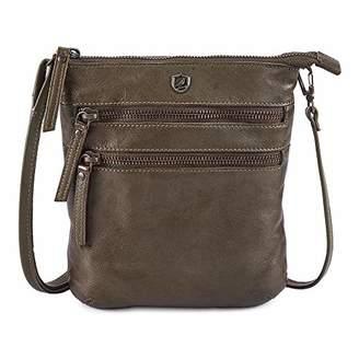COCHOA Small Triple Zip Real Leather Women's 2 way Crossbody/Waist Fanny Bum Bag Purse