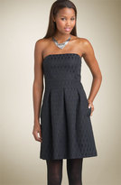 Halogen® Strapless Jacquard Dress