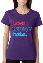 Allntrends Women's T Shirt Love Trumps Hate Elections 2016 Shirt (XL, )