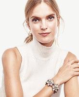 Ann Taylor Crystal Daisy Stretch Bracelet