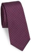 Kiton Mini Floral Print Silk Tie