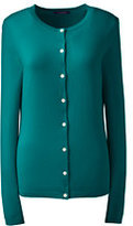 Lands' End Women's Cashmere Cardigan Sweater-Tropic Teal
