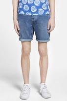 Topman Skinny Fit Denim Shorts (Brit Pop-In)
