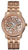 GUESS Women's U30003L1 Automatic Self Wind Rose Gold-Tone Watch