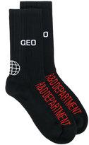 Geo logo socks