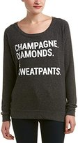 Chaser Women's Champagne Diamonds and Sweatpants T-Shirt