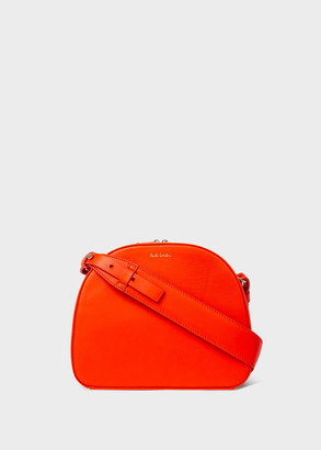 Paul Smith Women's Orange Leather Case Cross-Body Bag