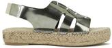 Prism Women's Palawan Tie Front Flatform Sandals Rust Metal
