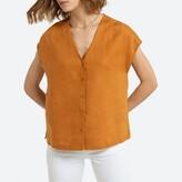 La Redoute Collections Linen Sleeveless Shirt