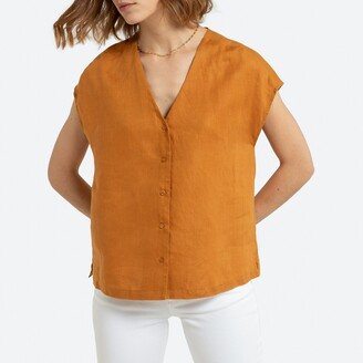 La Redoute Collections Linen Sleeveless Shirt