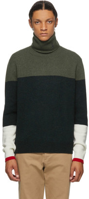 J.W.Anderson Green Knitted Colorblock Turtleneck