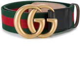 Gucci web double G buckle belt