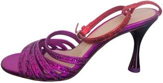 Uterque Purple Glitter Sandals