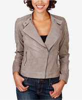 Lucky Brand Quilted Suede Moto Jacket
