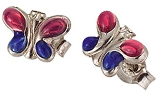 Scout Children's Jewellery Ear Studs 925 Sterling Silver Butterfly Enamelled