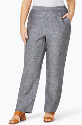 Foxcroft Pull-On Linen Pants