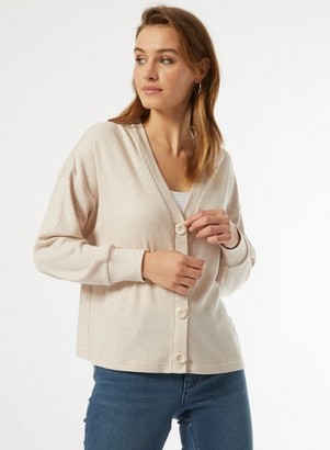 Dorothy Perkins Womens Oatmeal Brushed Cardigan