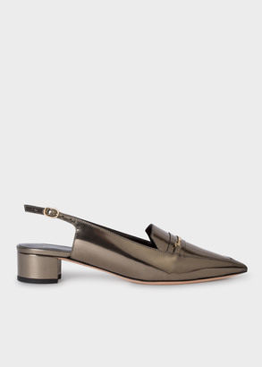 Paul Smith Women's Silver Leather 'Dido' Slingback Shoes