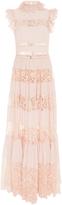 Elie Saab Lace and Ruffle Maxi Dress