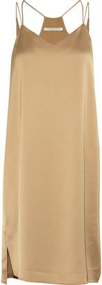 Halston Satin-crepe Mini Slip Dress
