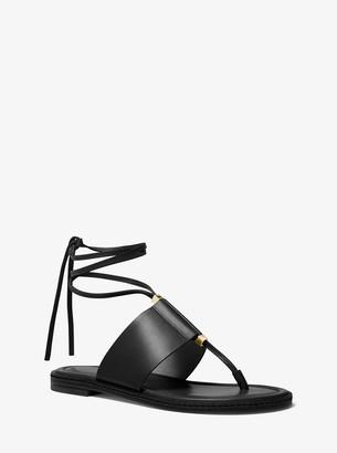 MICHAEL Michael Kors Marlon Leather Lace-Up Sandal