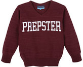 Andy & Evan Childrenswear Prepster V-Neck Pullover Sweater, Red, Size 2T-7Y